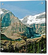 Mountain Peaks From Plain Of Six Glaciers Trail In Banff Np-albe Acrylic Print