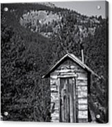 Mountain Privy Bw Acrylic Print