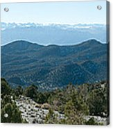 Mountain Range, White Mountains Acrylic Print