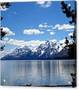 Mountain Reflection On Jenny Lake Acrylic Print by Dan Sproul