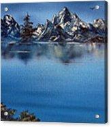 Mountain Ridge Horizon Acrylic Print by Cynthia Adams