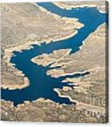 Mountain River From The Air Acrylic Print