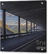 Mountain Road And Tunnel Acrylic Print