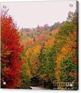 Mountain Road In Fall Acrylic Print