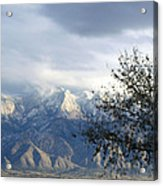 Mountain Snow Storm Acrylic Print