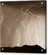 Mountain Storm - Sepia Print Acrylic Print