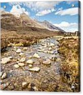 Mountain Stream From Beinn Eighe Acrylic Print