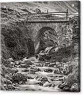 Mountain Stream With Bridge Acrylic Print