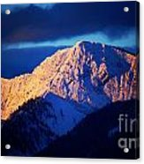 Lizard Range Mountain Sunrise Acrylic Print