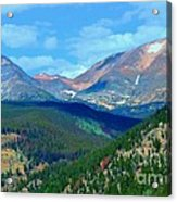Mountain Top Color Acrylic Print