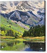 Mountain Top In Spring Acrylic Print