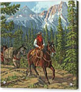 Mountain Traveler Acrylic Print