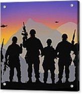 Mountain Troop Acrylic Print
