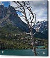 Mountain View At Glacier National Park Acrylic Print