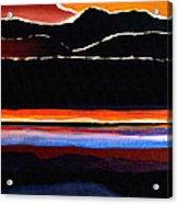 Mountains Abstract Acrylic Print