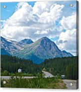 Mountains Along Cassiar Highway In Yt Acrylic Print