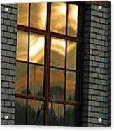 Mountains And Sun In Window Acrylic Print