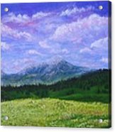 Mountains At Fossil Trails Acrylic Print