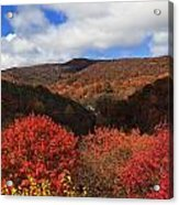 Mountains At Graveyard Fields Acrylic Print