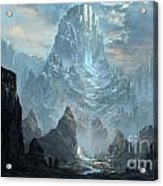 Mountains  Castles  Fantasy   Artwork   Acrylic Print