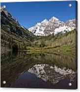 Mountains Co Maroon Bells 16 Acrylic Print