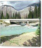 Mountains Green River Under Bridge Acrylic Print