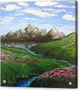 Mountains In Springtime Acrylic Print