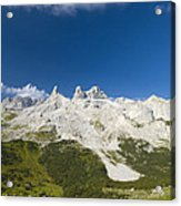 Mountains In The Alps Acrylic Print