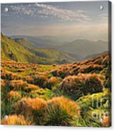 Mountains Landscape Acrylic Print by Boon Mee