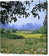 mountains near Yangshou and Guilin  Acrylic Print