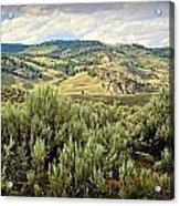 Mountains North Of The Lamar Acrylic Print