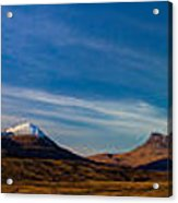 Mountains Of Assynt Panorama Acrylic Print
