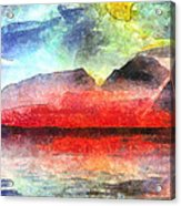 Mountains Of Fire Acrylic Print