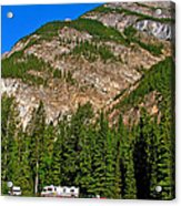 Mountains West Of Kicking Horse Campground In Yoho Np-bc Acrylic Print