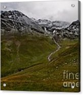 Mountainscape With Snow Acrylic Print
