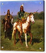 Mounted Indians Carrying Spears Acrylic Print
