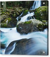 Mouse Creek Falls In Colour Acrylic Print