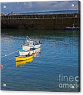 Mousehole Cornwall Acrylic Print by Louise Heusinkveld
