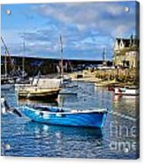 Mousehole Harbour Morning Acrylic Print