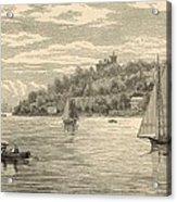 Mouth Of The Shrewsbury River 1872 Engraving Acrylic Print