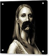 Movember First Acrylic Print by Ashley King