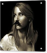 Movember Nineteenth Acrylic Print by Ashley King