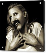 Movember Sixteenth Acrylic Print by Ashley King