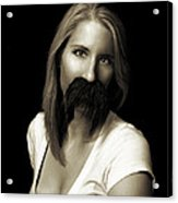 Movember Twentieth Acrylic Print by Ashley King