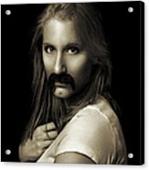 Movember Twentythird Acrylic Print by Ashley King