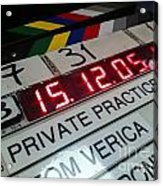 Movie Slate From Private Parctice Acrylic Print