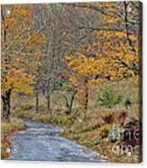 Moving On Down The Road Acrylic Print