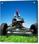 Mowing The Lawn Acrylic Print
