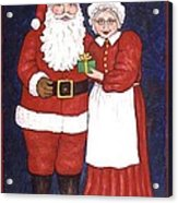 Mr And Mrs Claus Acrylic Print