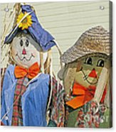 Mr And Mrs Scarecrow Acrylic Print